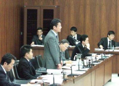 2006年12月6日(水) 決算行政監視委員会にて質問