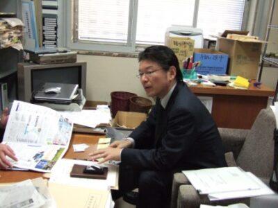 2007年12月10日(月) 大学生の取材を受けました