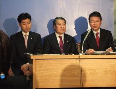 2007年12月21日(金) 厚生労働委員会について緊急記者会見をしました