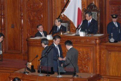 2008年12月12日(金) 57年ぶりに関連しない複数法案を再議決