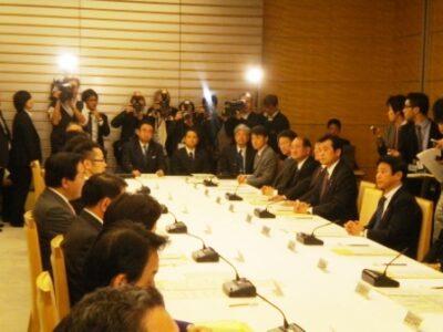 2011年12月5日(月) 首相官邸で政府・与党社会保障改革本部に出席