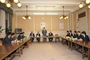政治改革推進本部役員会で企業・団体献金禁止を協議