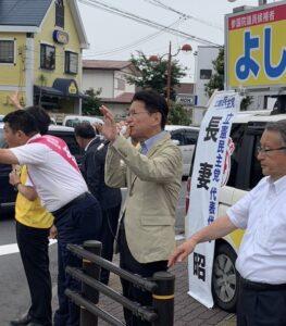 最終日 三重県で、よしの正英候補の応援