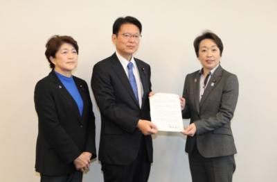 政治分野における女性の活躍促進について、橋本聖子大臣から要請受ける