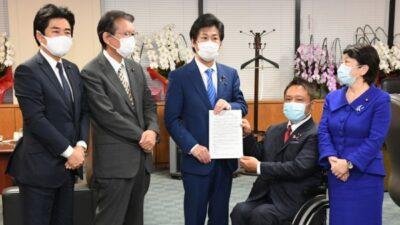低所得のひとり親世帯へ年内2度目の臨時特別給付金支給を求め、田村厚労大臣に申し入れ