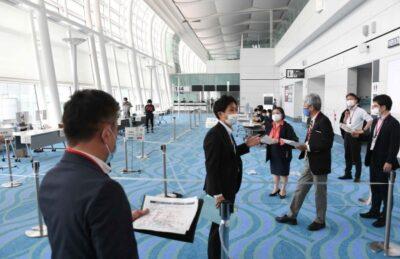 オリンピック・パラリンピック大会の開催が迫るなか羽田空港の検疫・感染防止態勢を視察